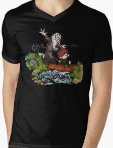 Bilbo and Gandalf Inspired Calvin And Hobbes Mens V-Neck T-Shirt
