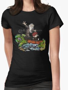Bilbo and Gandalf Inspired Calvin And Hobbes Womens Fitted T-Shirt