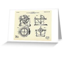Stellar Compass and Great Circle Course Projector-1902 Greeting Card