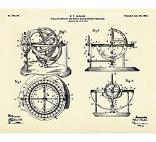 Stellar Compass and Great Circle Course Projector-1902 Photographic Print