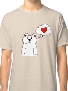Teddy Bear Falling in Love Classic T-Shirt