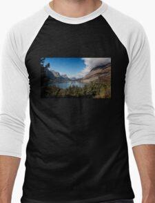 St. Mary Lake and Wild Goose Island. Men's Baseball ¾ T-Shirt