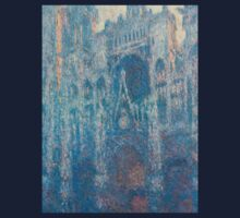 1894-Claude Monet-The Portal of Rouen Cathedral in Morning Light-65 x 100 Kids Tee
