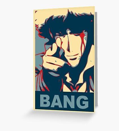 Cowboy Bebop - Bang - Spike Spiegel Greeting Card