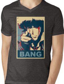 Cowboy Bebop - Bang - Spike Spiegel Mens V-Neck T-Shirt