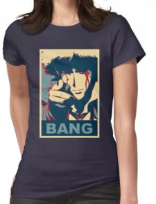 Cowboy Bebop - Bang - Spike Spiegel Womens Fitted T-Shirt