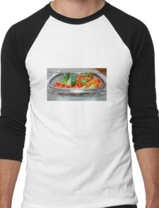 Tomato and Cucumber Harvest in Kitchen Sink Men's Baseball ¾ T-Shirt