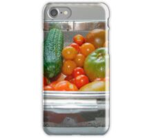 Tomato and Cucumber Harvest in Kitchen Sink iPhone Case/Skin