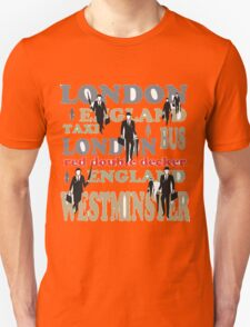Stylish London lettering design with business executives T-Shirt