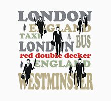 Stylish London lettering design with business executives Unisex T-Shirt