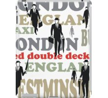 Stylish London lettering design with business executives iPad Case/Skin