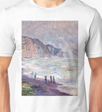 1897-Claude Monet-Heavy Sea at Pourville-73 x 101 Unisex T-Shirt