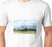 Road Signs at Top of Mountain Unisex T-Shirt