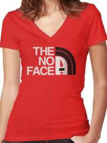 The No Face Women's Fitted V-Neck T-Shirt