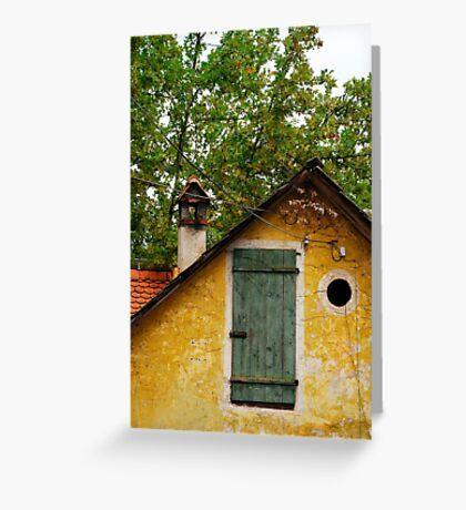 Historic Building in Skofja Loka Greeting Card