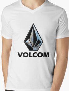VOLCOM logo Mens V-Neck T-Shirt