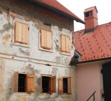Historic Buildings in Skofja Loka Sticker