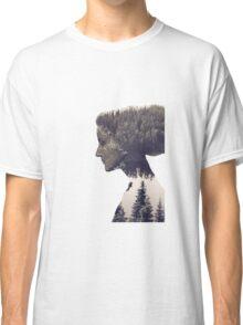 portrait womens face Classic T-Shirt