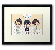 Chibi Haikyuu!! Anime Framed Print