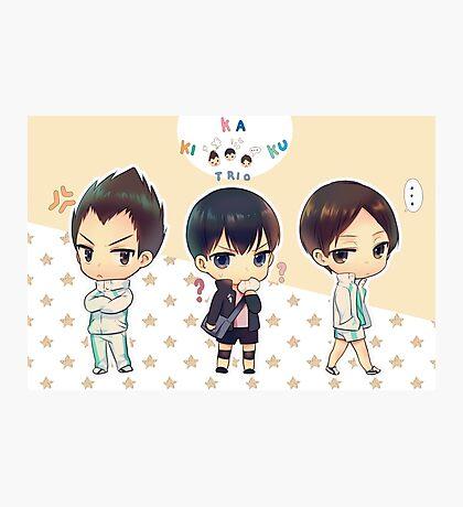 Chibi Haikyuu!! Anime Photographic Print