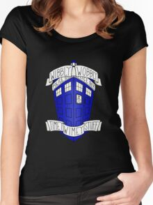 Doctor Who - TARDIS Women's Fitted Scoop T-Shirt