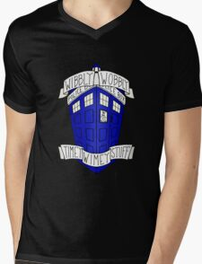 Doctor Who - TARDIS Mens V-Neck T-Shirt