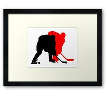 Hockey moments and players Framed Print