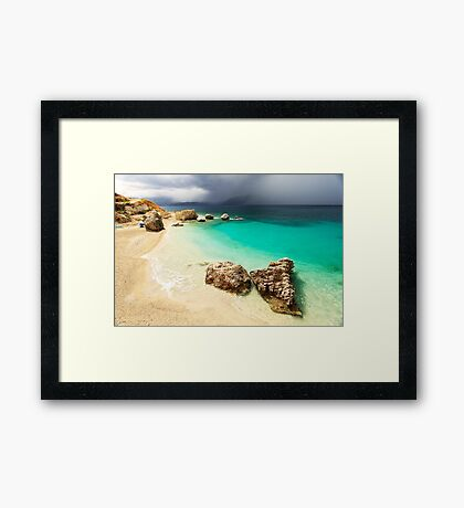 Fight of Shadow and Light - Travel Photography Framed Print
