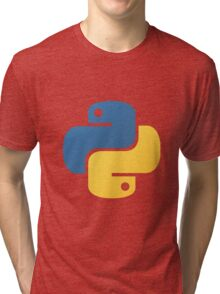 Python logo Tri-blend T-Shirt