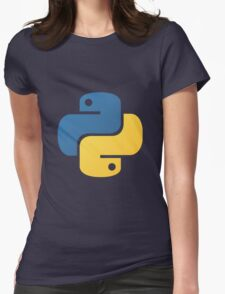 Python logo Womens Fitted T-Shirt