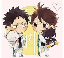 Chibi 2 Haikyuu!! Anime Photographic Print
