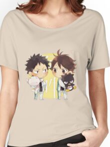 Chibi 2 Haikyuu!! Anime Women's Relaxed Fit T-Shirt