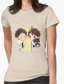 Chibi 2 Haikyuu!! Anime Womens Fitted T-Shirt