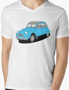 2cv blue Mens V-Neck T-Shirt
