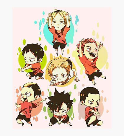 Chibi 3 Haikyuu!! Anime Photographic Print