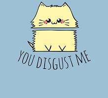 you disgust me - cat Womens Fitted T-Shirt