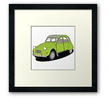 2cv green Framed Print