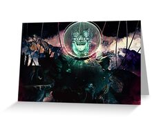 Wire Skull- Full Landscape Greeting Card