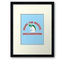 Adore the Magical Uniclovercorn Framed Print
