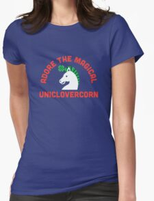 Adore the Magical Uniclovercorn Womens Fitted T-Shirt