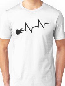 Guitar heartbeat Unisex T-Shirt