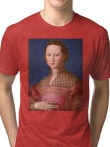 Agnolo Bronzino - Eleonora of Toledo 1543 Woman Portrait Tri-blend T-Shirt