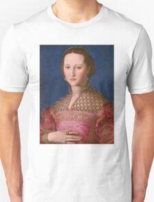 Agnolo Bronzino - Eleonora of Toledo 1543 Woman Portrait Unisex T-Shirt