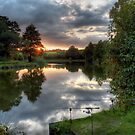 Two Rods at Sunset by David  Rowlatt