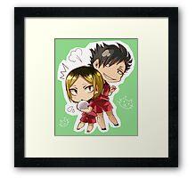 Chibi 4 Haikyuu!! Anime Framed Print
