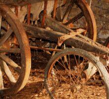 Old Wooden Farming Cart Sticker