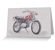 Yamaha GT80 by Glens Graphix Greeting Card