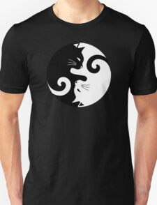 Ying Yang Cats - Black and white T-Shirt
