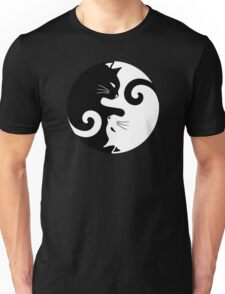Ying Yang Cats - Black and white Unisex T-Shirt