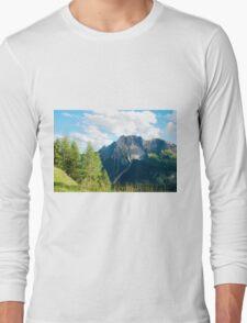 Scenery on Sella di Rioda Long Sleeve T-Shirt